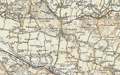Old map of Petworth in 1897-1900