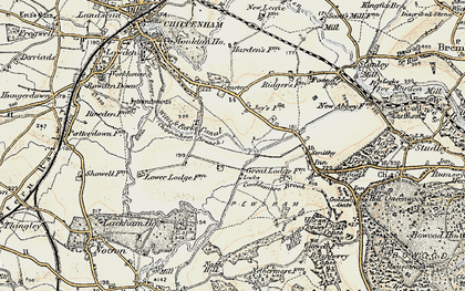 Old map of Wiltshire College (Lackham) in 1899