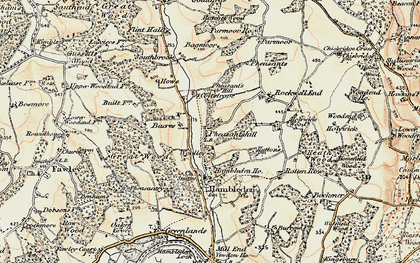 Old map of Bacres in 1897-1898