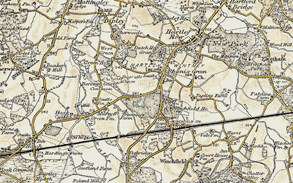 Old map of Ashley in 1897-1909
