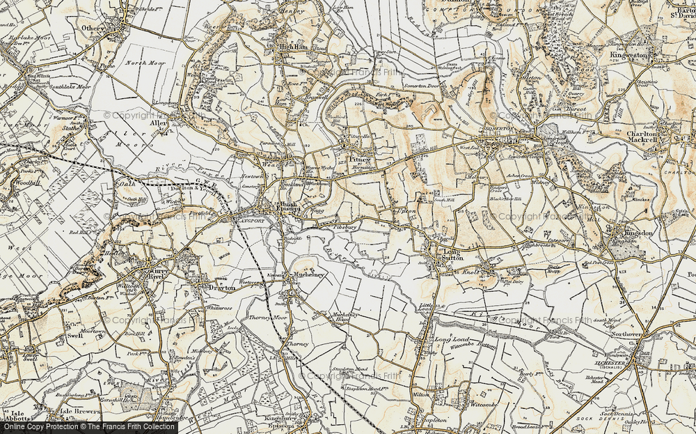 Old Map of Historic Map covering Ablake in 1898-1900