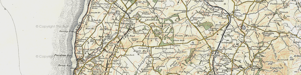 Old map of Wilson Park in 1901-1904