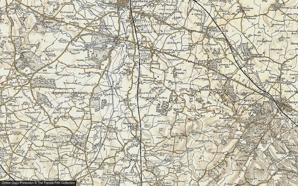 Old Map of Piccadilly, 1901-1902 in 1901-1902