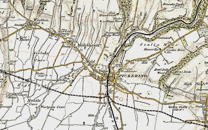 Old map of Westgate Carr in 1903-1904