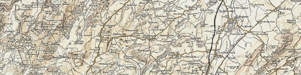 Old map of Wilderley Hill in 1902-1903