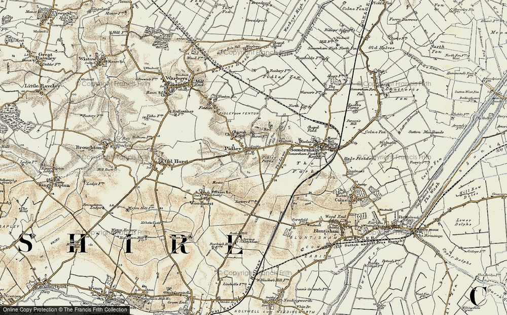Old Map of Pidley, 1901 in 1901