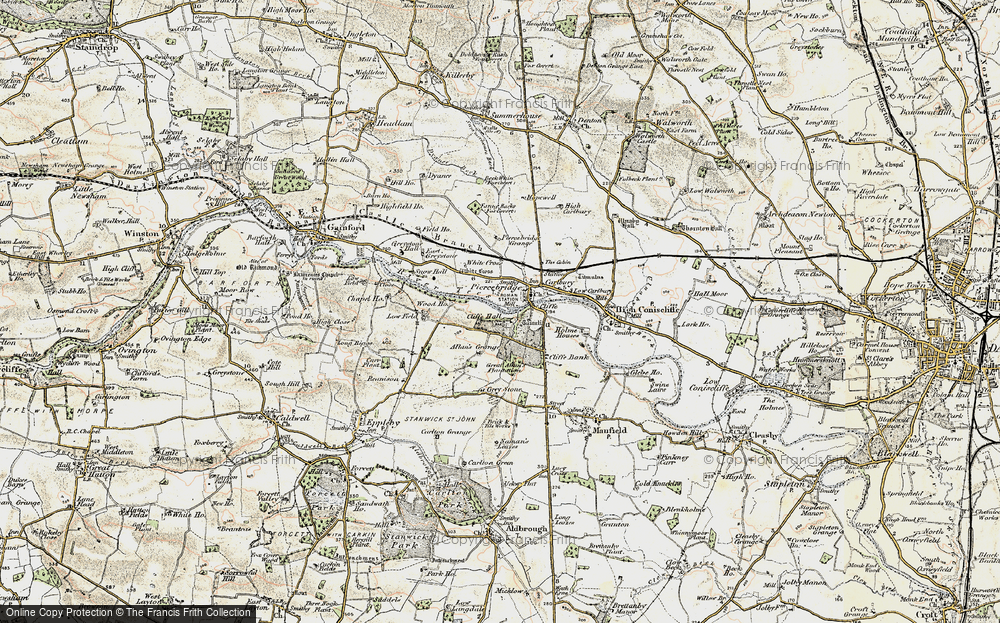 Old Map of Historic Map covering Allan's Grange in 1903-1904