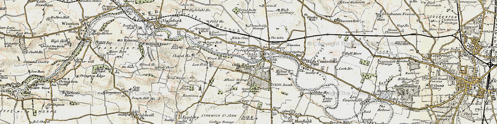 Old map of White Cross in 1903-1904