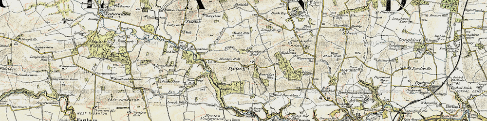 Old map of Todd Hill in 1901-1903