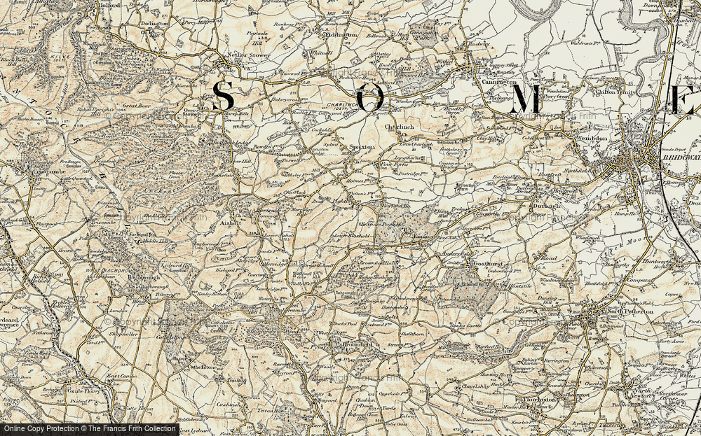 Old Map of Historic Map covering Barford Ho in 1898-1900