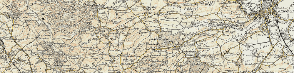 Old map of Wind Down in 1898-1900