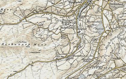 Old map of Baitings Resr in 1903