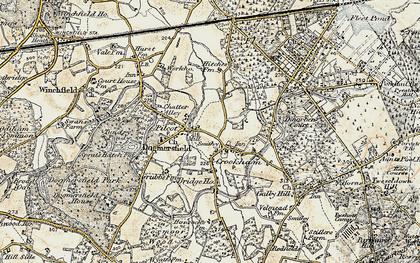 Old map of Pilcott in 1898-1909
