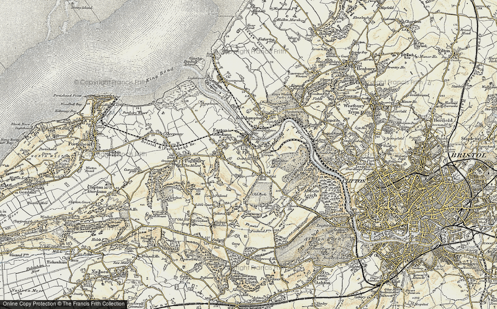 Old Map of Pill, 1899 in 1899
