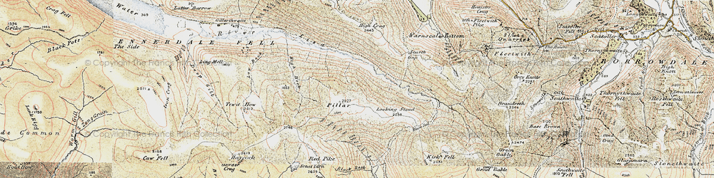 Old map of Wind Gap in 1903-1904