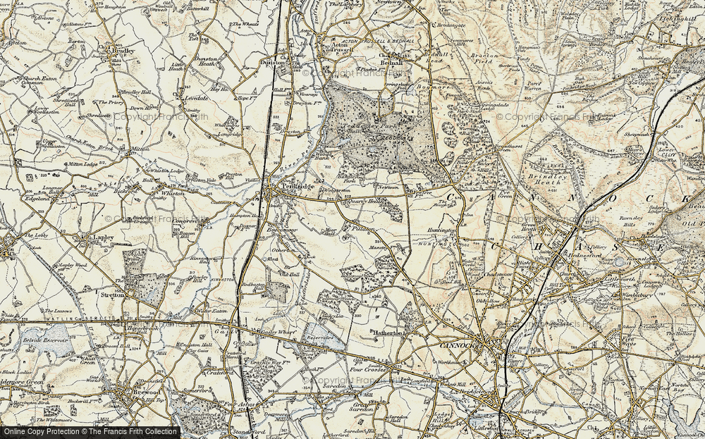 Old Map of Historic Map covering Bangley Park in 1902