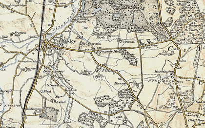 Old map of Bangley Park in 1902