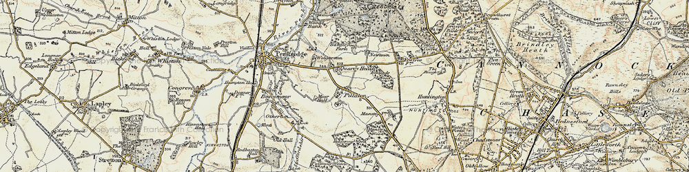 Old map of Wolgarston in 1902