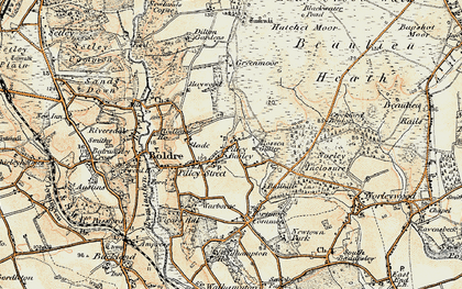 Old map of Pilley in 1897-1909