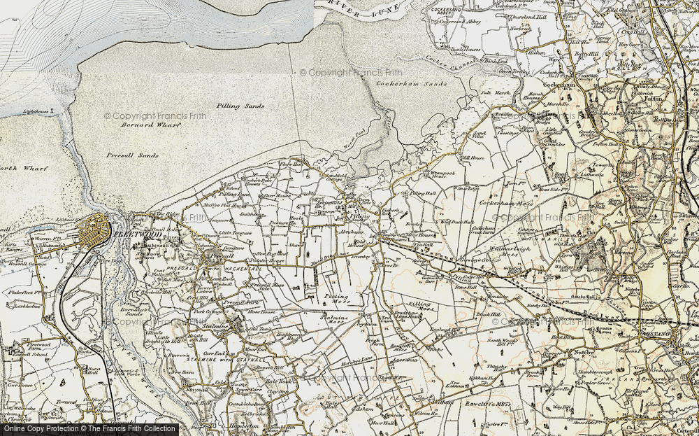 Old Map of Pilling, 1903-1904 in 1903-1904