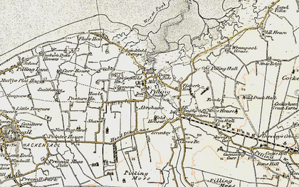Old map of Pilling in 1903-1904