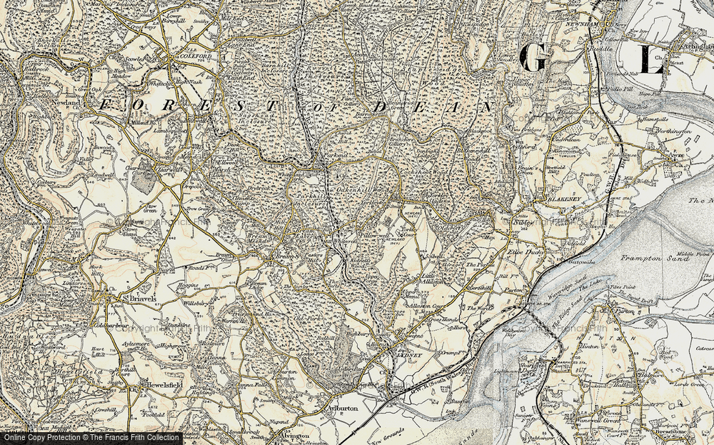 Old Map of Pillowell, 1899-1900 in 1899-1900