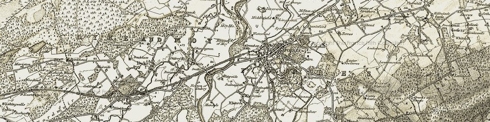 Old map of Whiterow in 1910-1911