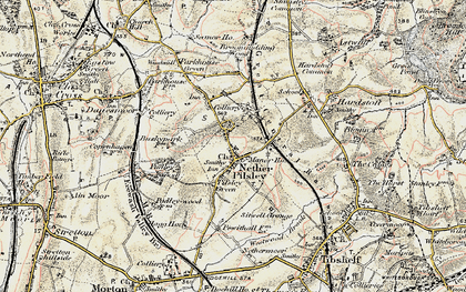 Old map of Pilsley in 1902-1903