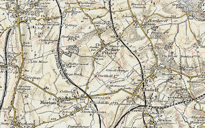 Old map of Pilsley Green in 1902-1903