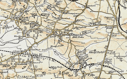 Old map of Pilton in 1899