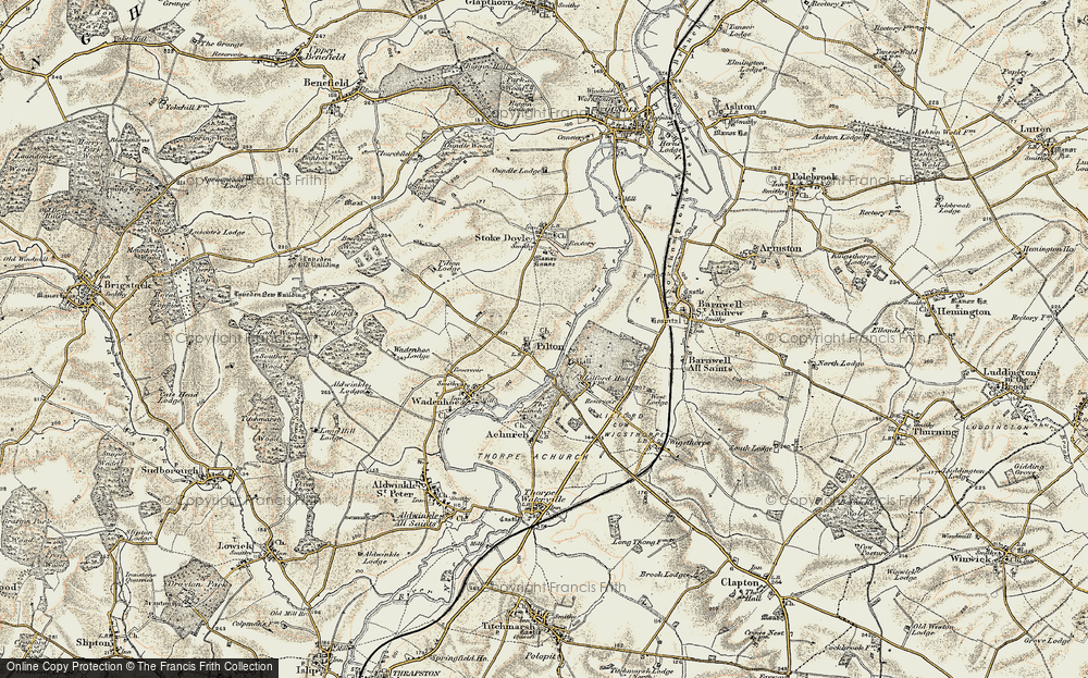 Old Map of Historic Map covering Linches, The in 1901-1902