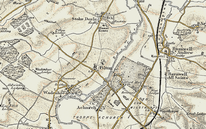 Old map of Linches, The in 1901-1902