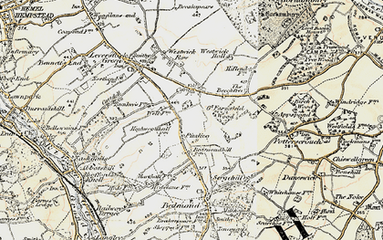 Old map of Pimlico in 1897-1898