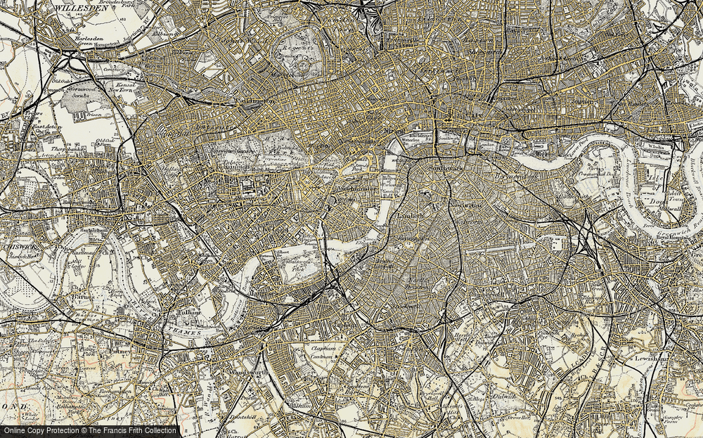 Pimlico London Map.Old Maps Of Pimlico Francis Frith