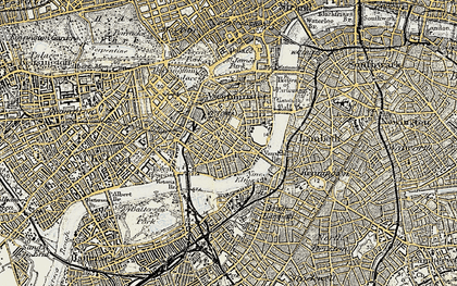 Old map of Pimlico in 1897-1902