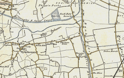 Old map of Wormley Hill in 1903