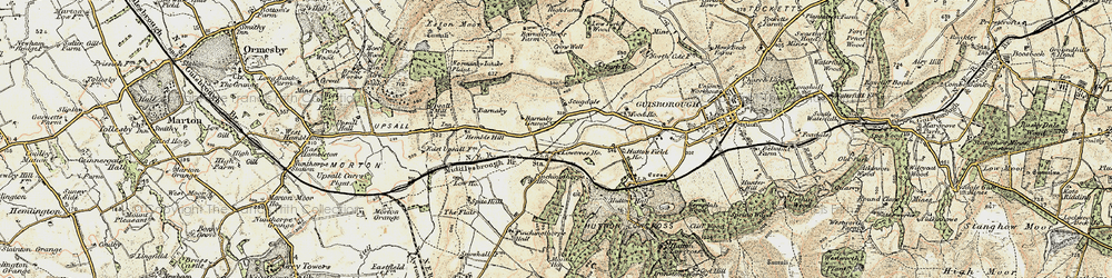 Old map of Hutton Gate in 1903-1904
