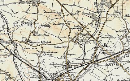 Old map of Pinehurst in 1898-1899