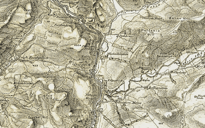 Old map of Aldons Hill in 1905