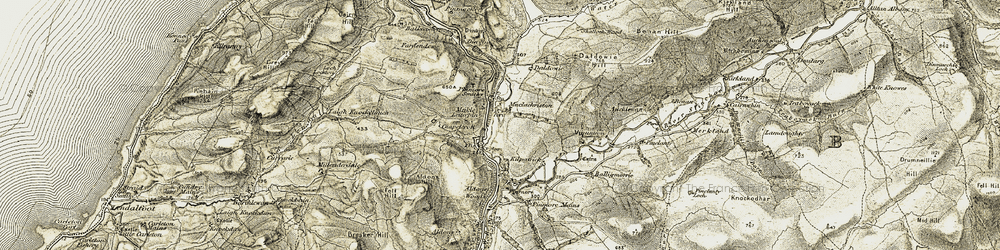 Old map of Aldons in 1905