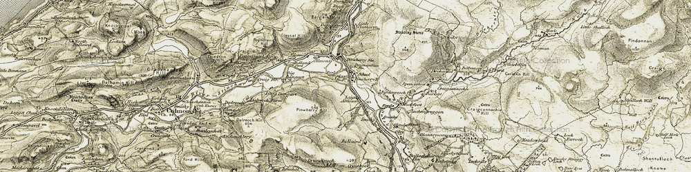 Old map of Alticane in 1905