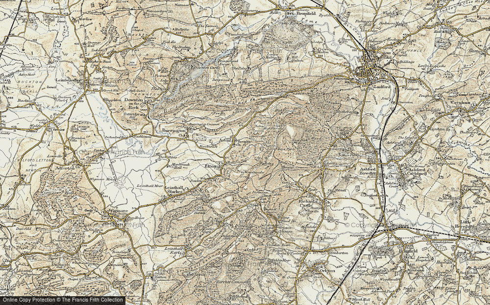 Old Map of Historic Map covering Woodlands in 1901-1903