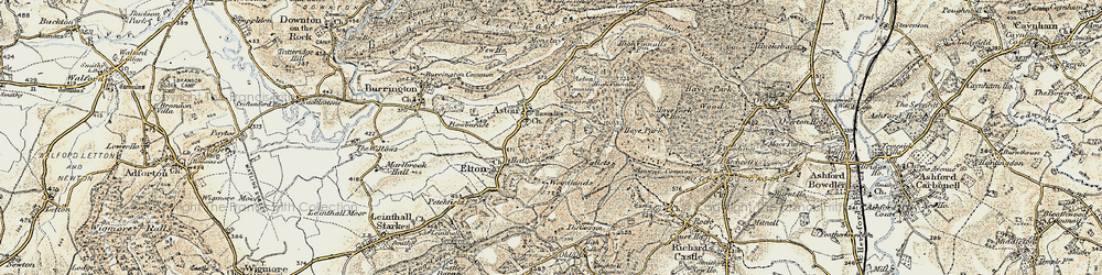 Old map of Woodlands in 1901-1903
