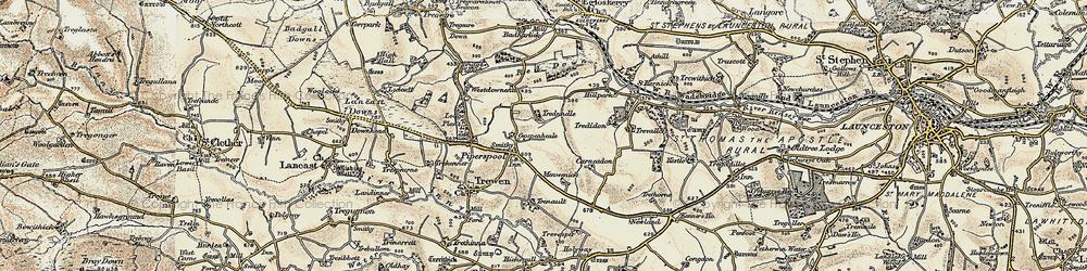 Old map of Westdownend in 1900