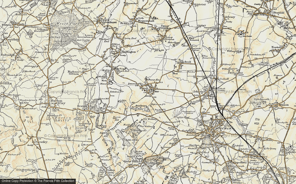Old Map of Historic Map covering Toot Hill in 1898-1899