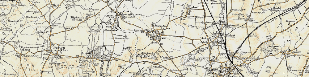 Old map of Toot Hill in 1898-1899