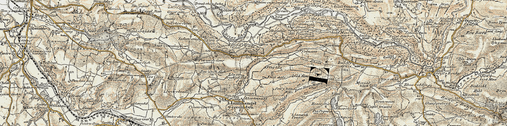Old map of Allt-fedw in 1901-1903