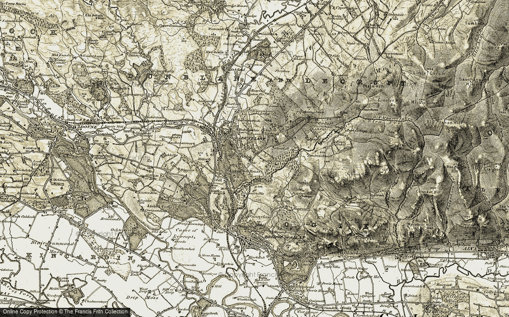 Old Map of Historic Map covering Badgergate in 1904-1907