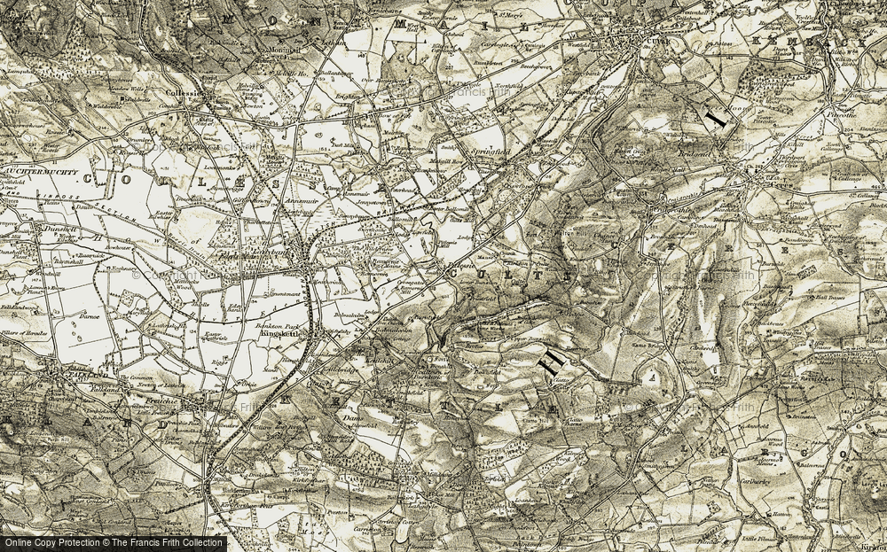 Old Map of Historic Map covering Ballomill in 1906-1908