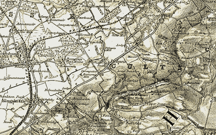 Old map of Lawfield in 1906-1908